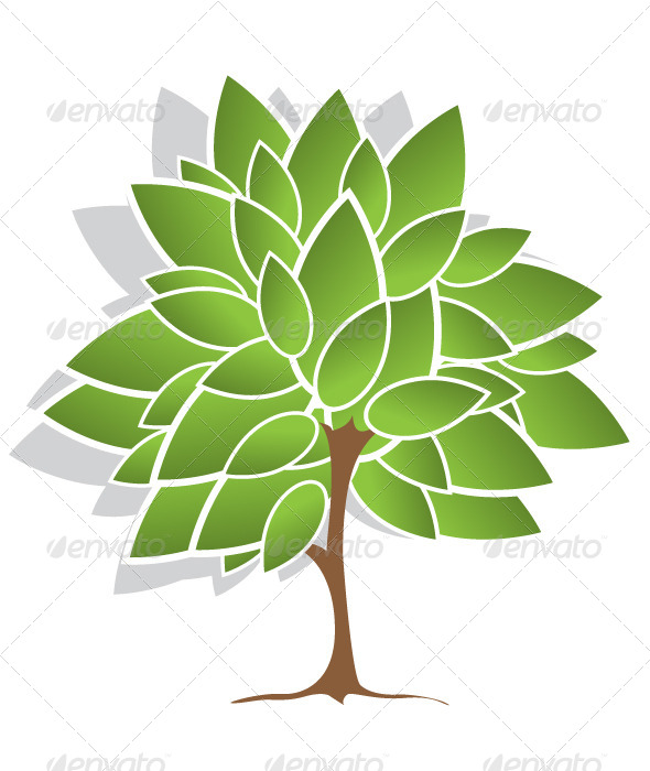 GraphicRiver Tree with Green Leaves 4590553