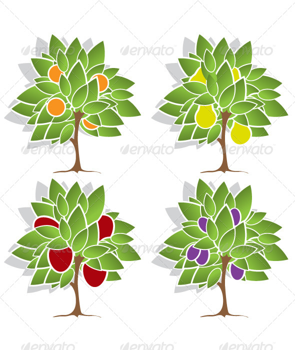 GraphicRiver Four Fruit Trees 4590695