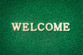 Welcome Text on Green - PhotoDune Item for Sale