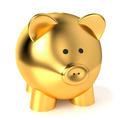 Golden Piggy Bank Savings Concept - PhotoDune Item for Sale