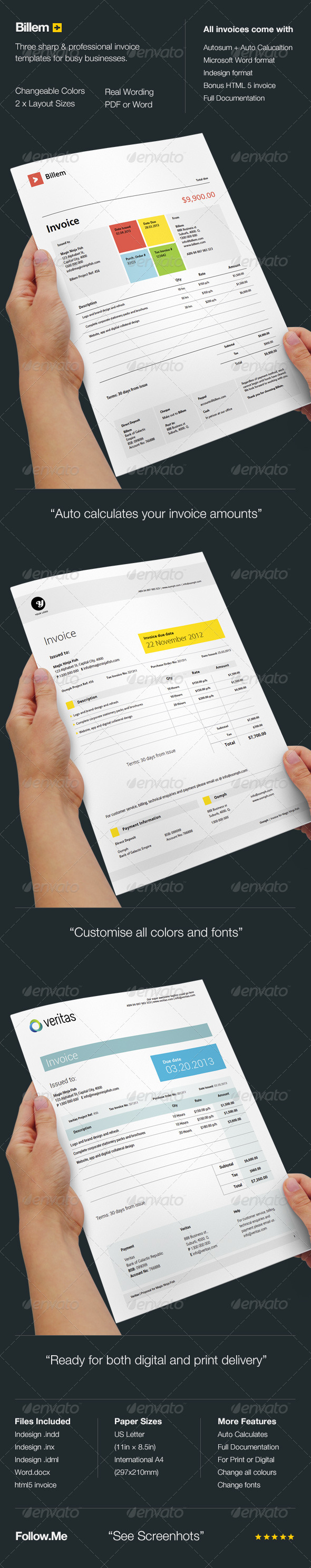 GraphicRiver Billem Invoice Templates 4591907