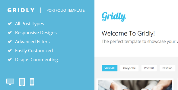 View live Demo for Gridly - Responsive Tumblr Portfolio Theme