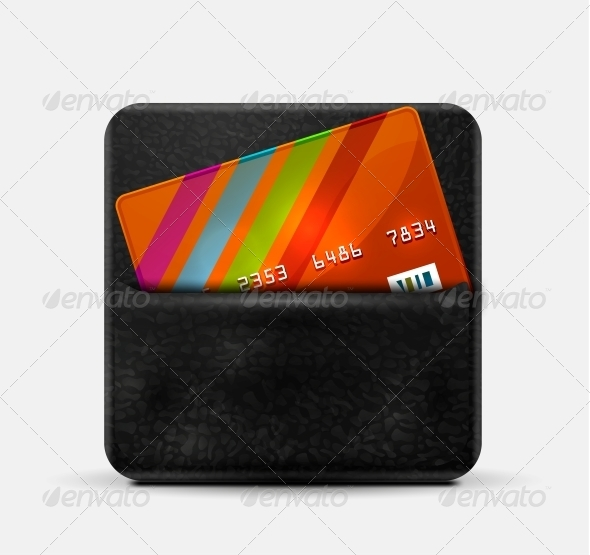 GraphicRiver Leather Wallet for Credit Cards 4592078
