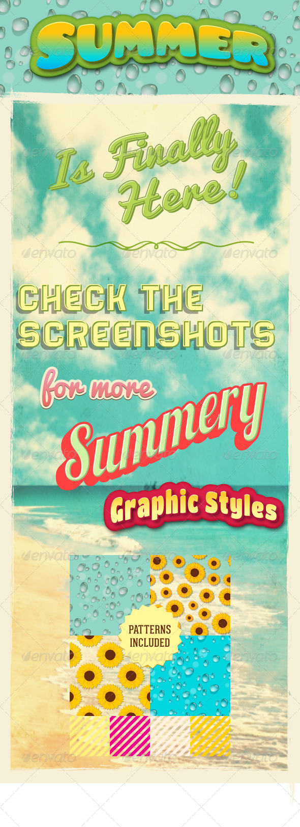 GraphicRiver Summer Graphic Styles For Illustrator 4592829