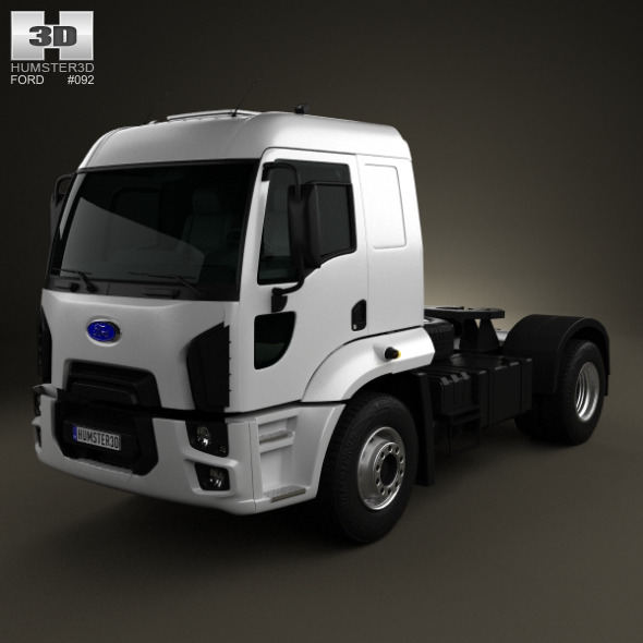 3DOcean Ford Cargo Tractor Truck 2012 4592916