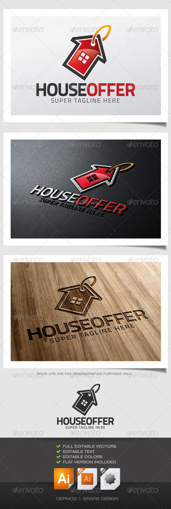 GraphicRiver House Offer Logo 4594037
