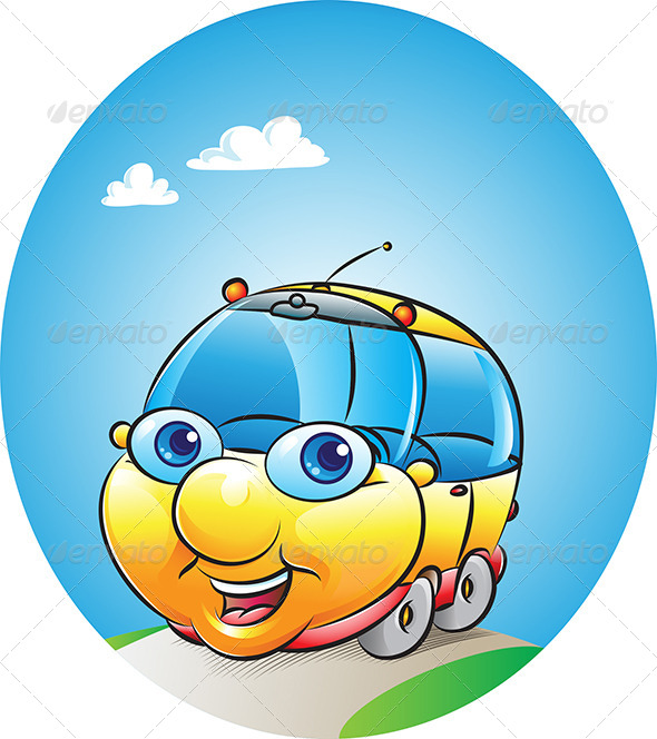 GraphicRiver Car Mascot 4594218