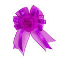 Festive violet bow made of ribbon isolated on white - PhotoDune Item for Sale