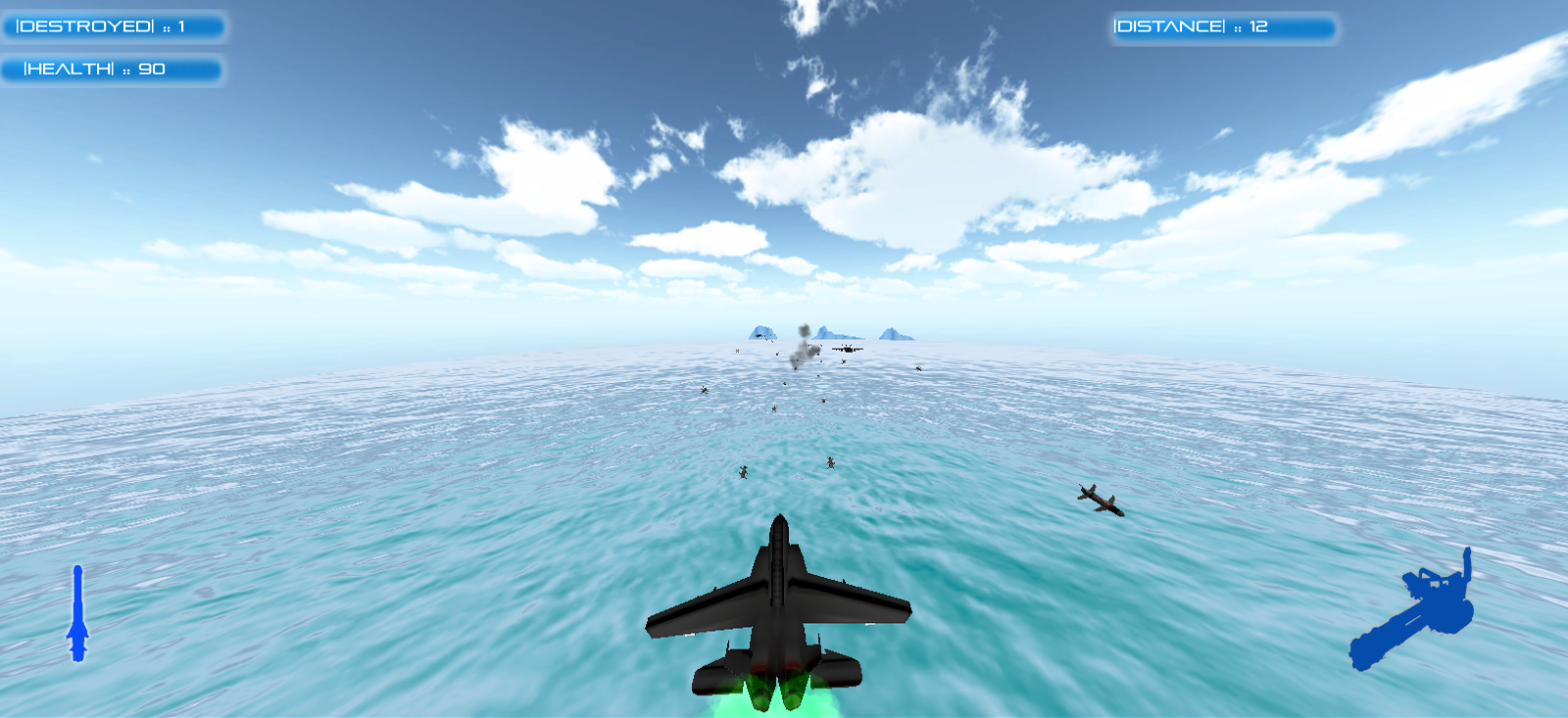 Destroyer -3d plane shooting game
