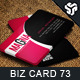 Business Card Design 73 - GraphicRiver Item for Sale