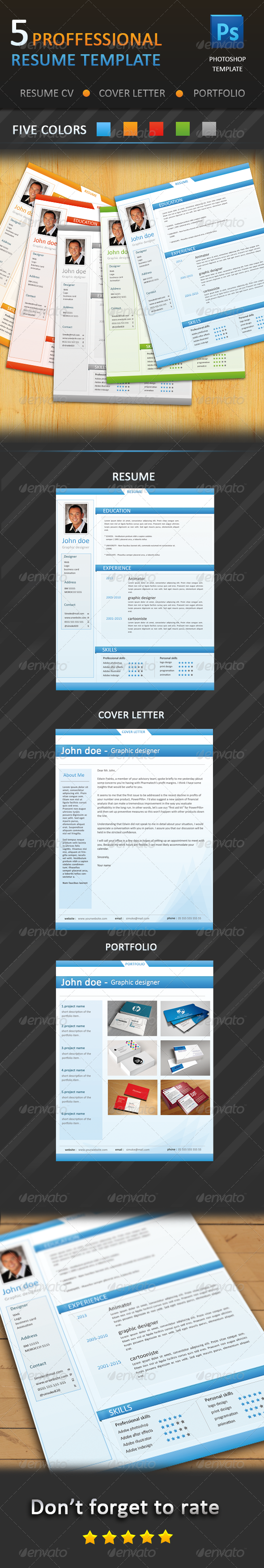 GraphicRiver Professional Resume CV 4419518
