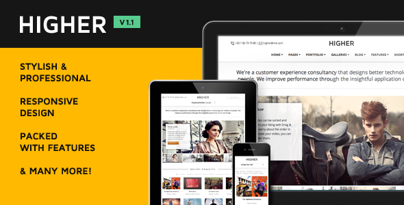 Higher Premium Multi-Purpose WordPress Theme - Corporate WordPress