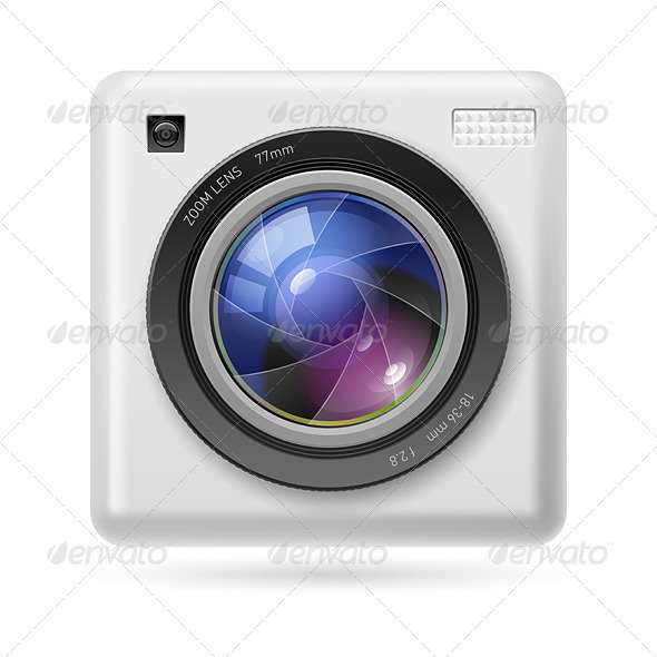 GraphicRiver Camera Icon Lens 4594450
