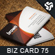 Business Card Design 75 - GraphicRiver Item for Sale