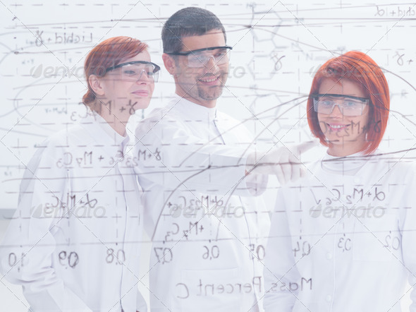 teacher and student in lab - Stock Photo - Images