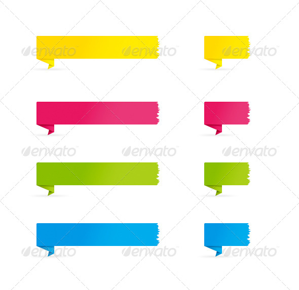 GraphicRiver Folded Color Banners 4594677