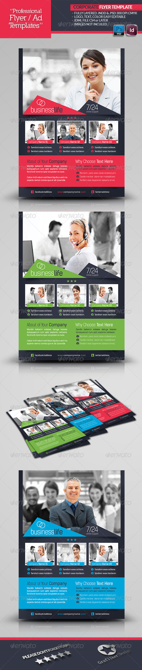 GraphicRiver Corporate Flyer Template 4512484