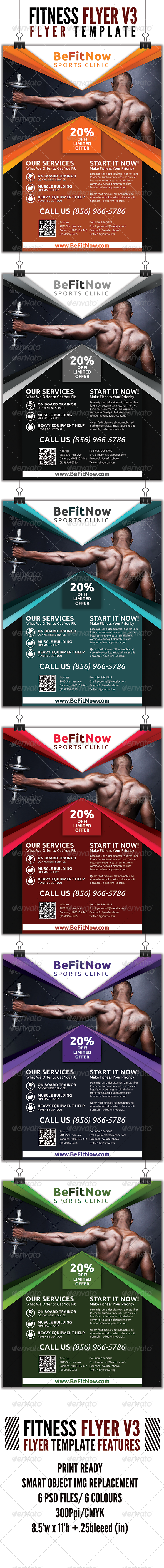 GraphicRiver Fitness Flyer V3 4509708