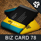 Business Card Design 78 - GraphicRiver Item for Sale