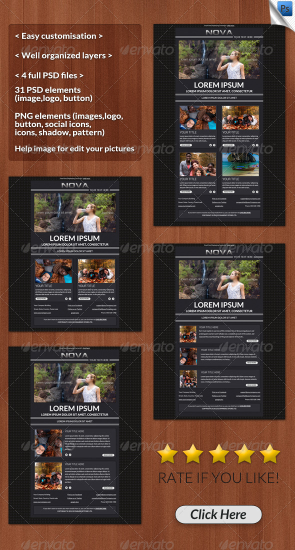 GraphicRiver Nova Email Template 4595557