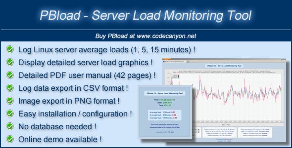CodeCanyon PBload Server Load Monitoring Tool 4595620