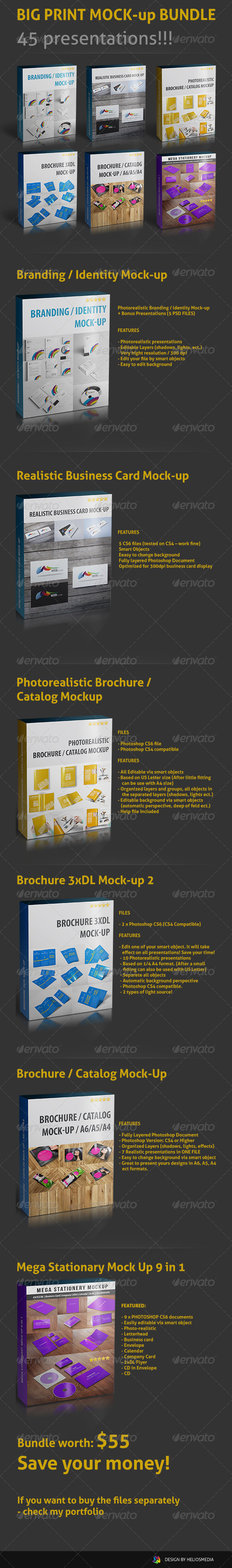 GraphicRiver Big Print Mock-up Bundle 4595621