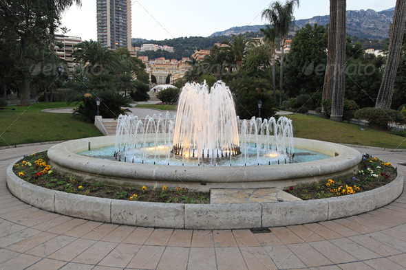 Fountain Monaco - Stock Photo - Images