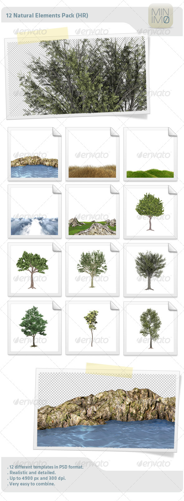 GraphicRiver 12 Natural Elements Pack HR 4514104