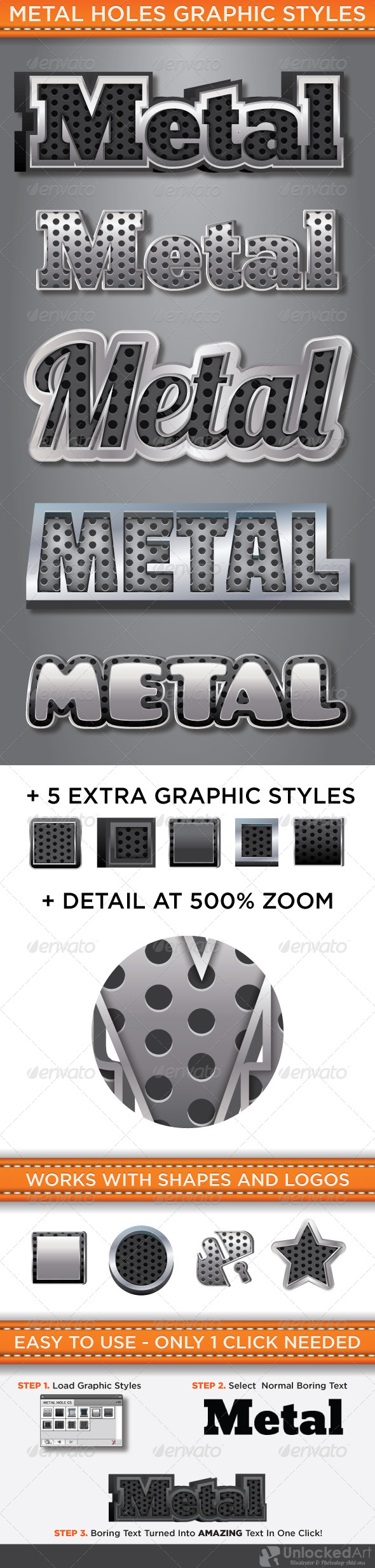 GraphicRiver Metal Holes Graphic Style 4596397