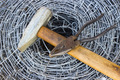 Barbed wire, a hammer and pliers - PhotoDune Item for Sale