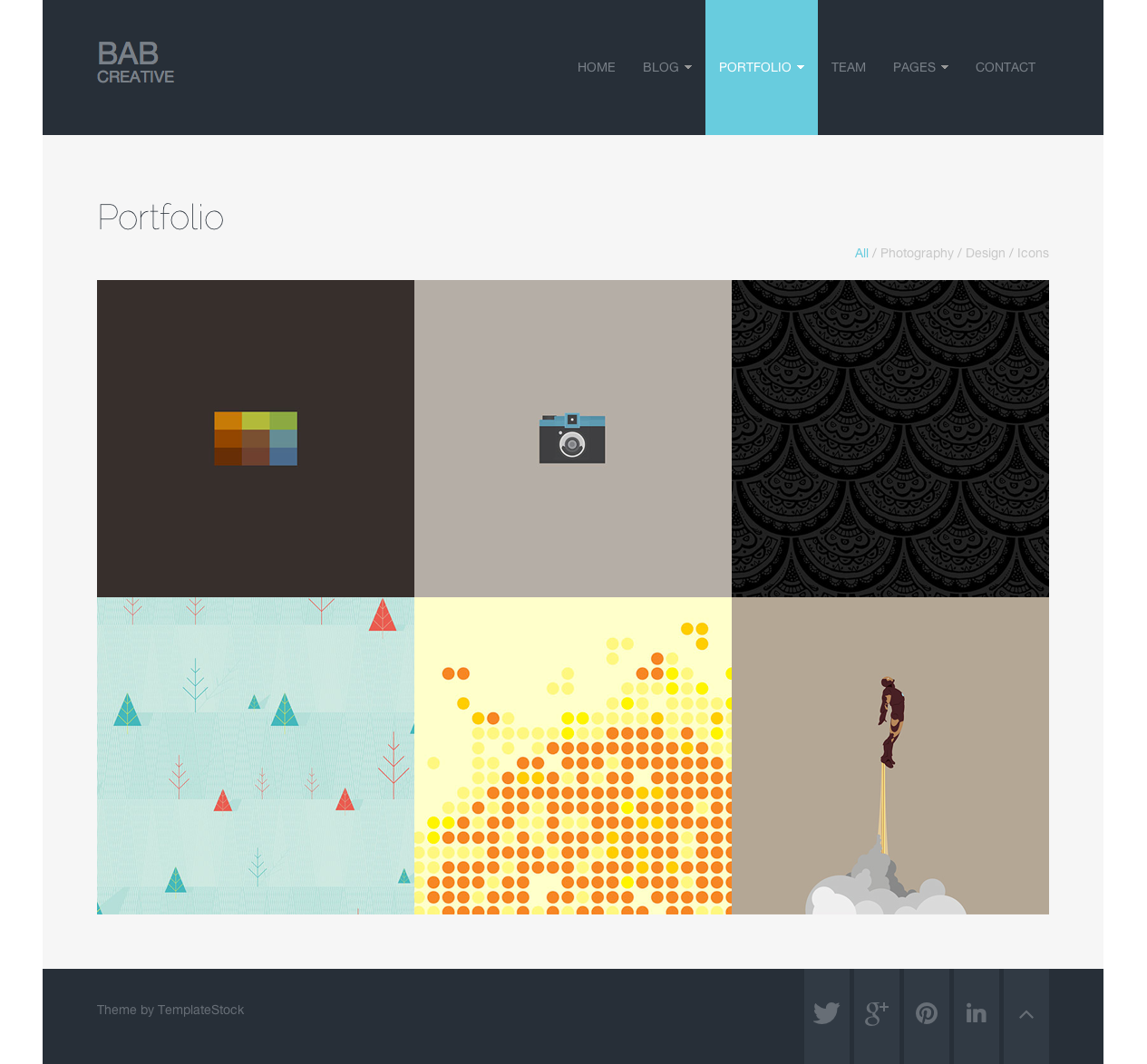 BAB: Clean, Responsive Portfolio WordPress Theme