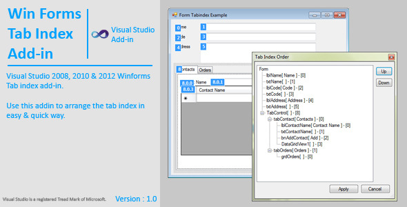CodeCanyon WinForms Tab Index AddIn 4567358