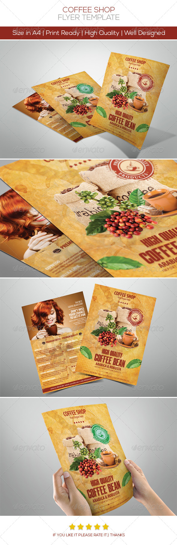 Coffee Flyers - Restaurant Flyers