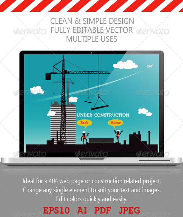 GraphicRiver Construction Site; Under Construction Page 4572804