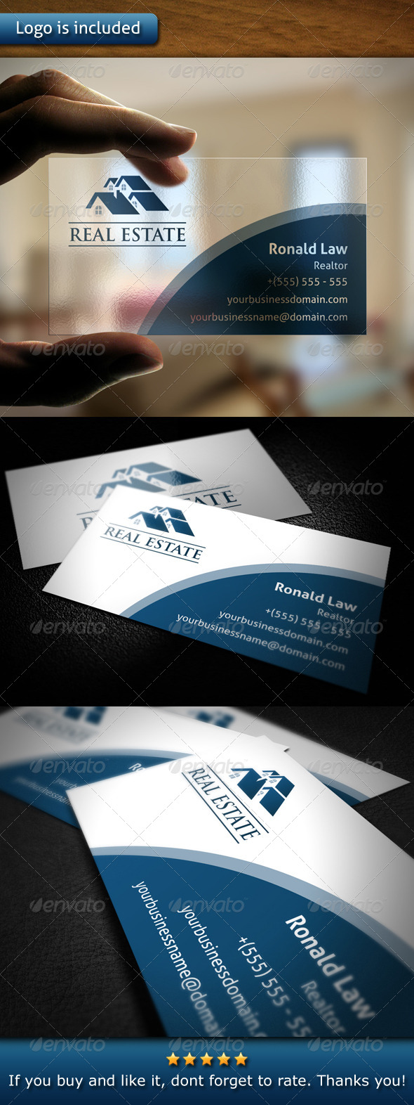 GraphicRiver Real Estate Business Card 4598129