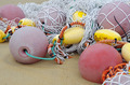 fishing floats and fishing nets - PhotoDune Item for Sale