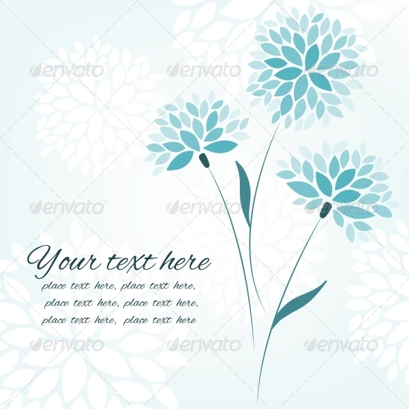 GraphicRiver Vector Background with Three Flowers 4598550