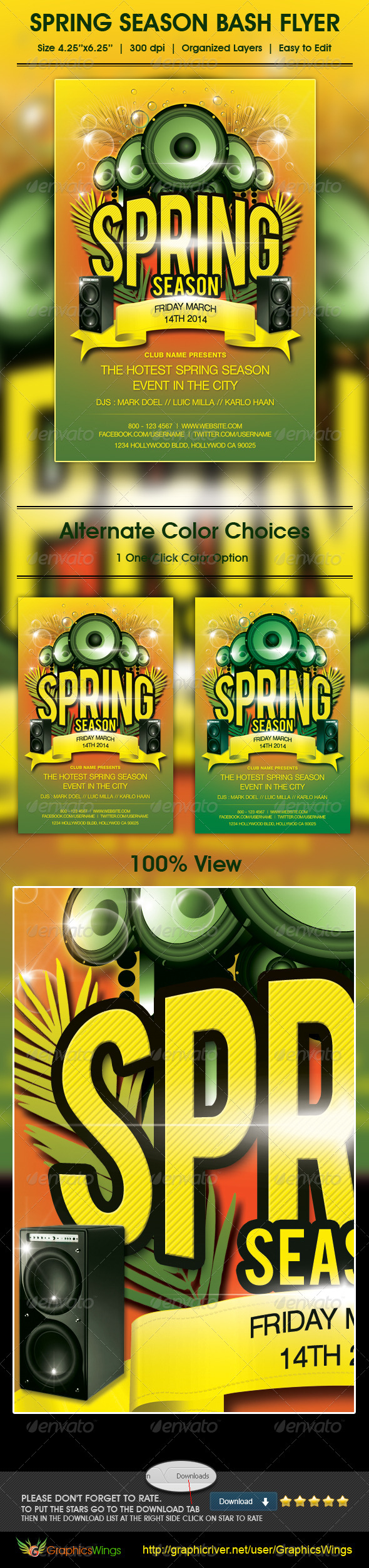 GraphicRiver Spring Season Bash Flyer Template 4515204
