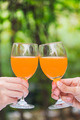 Two Hand Hold Glass of Orange Juice - PhotoDune Item for Sale