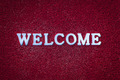 Welcome Text on Red Carpet - PhotoDune Item for Sale