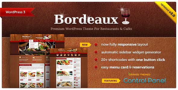 Bordeaux - Premium Restaurant Theme - Restaurants &amp; Cafes Entertainment