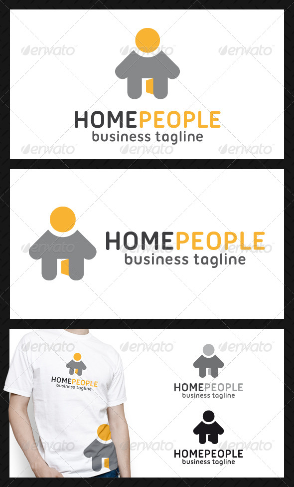 GraphicRiver Home People Logo Template 4599131