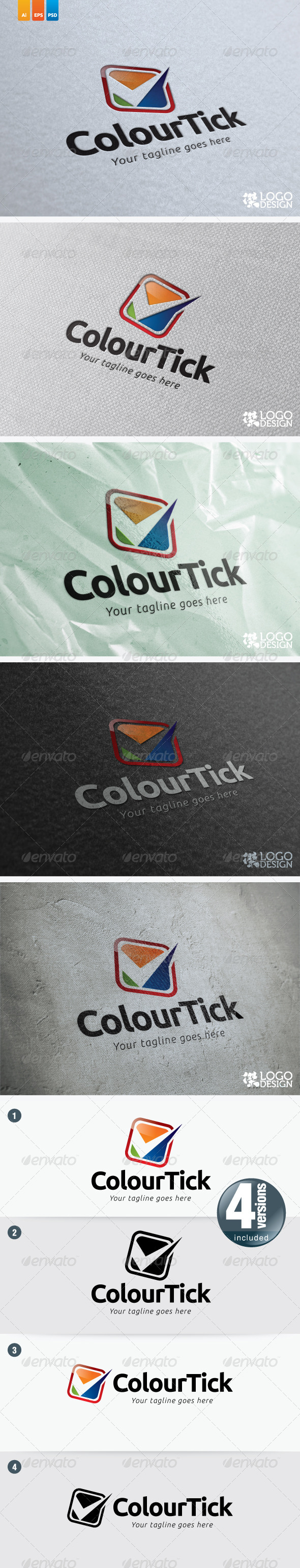 Colour Tick - Symbols Logo Templates