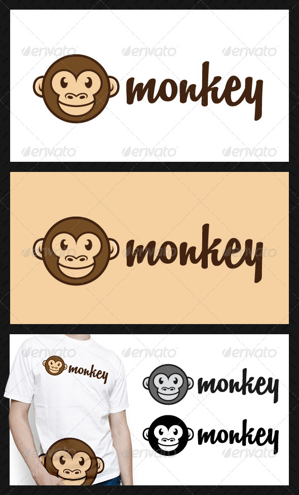 GraphicRiver Monkey Logo Template 4599402