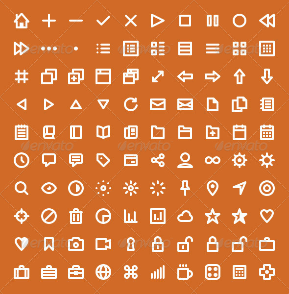 GraphicRiver Wirecons Vector Icons 4586710