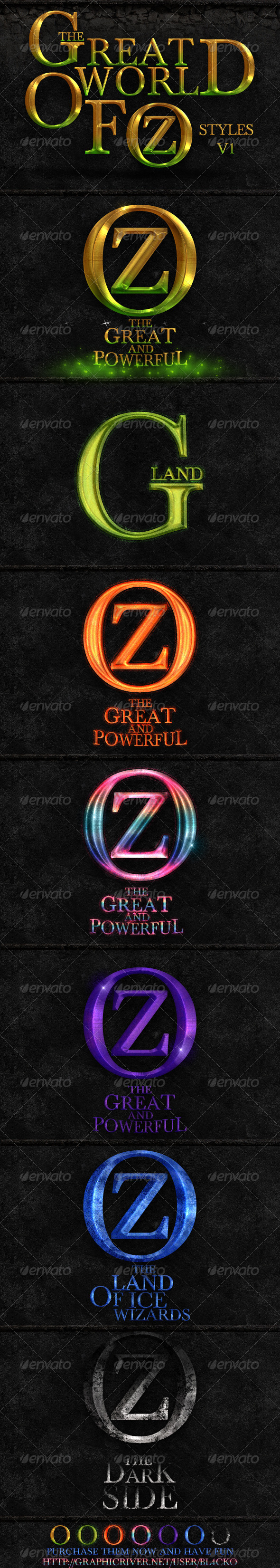GraphicRiver The Great World Of Oz Styles V1 4599699