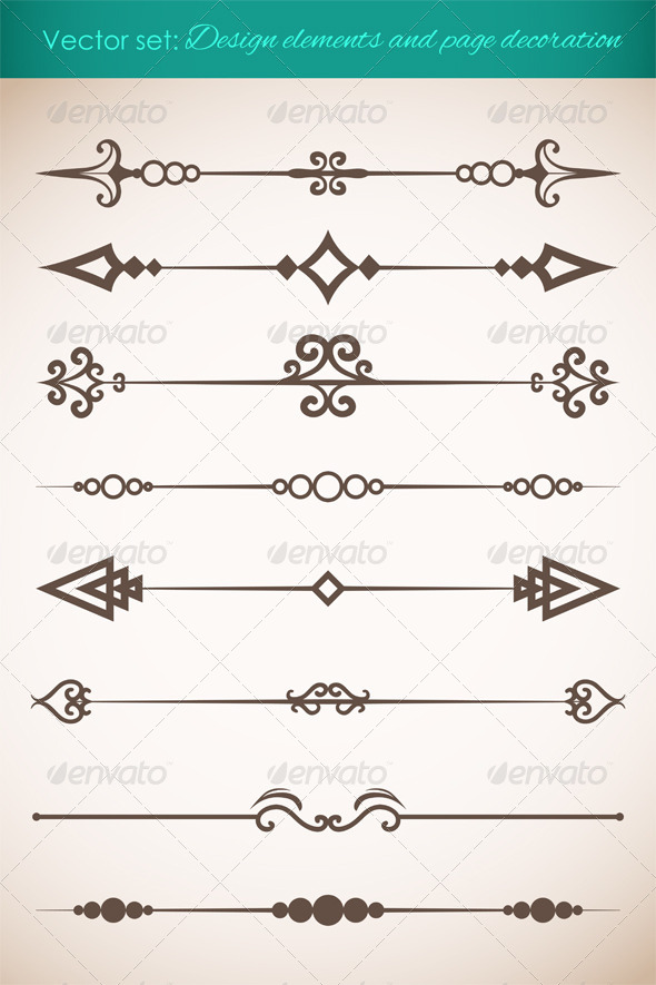 GraphicRiver Design Elements and Page Decorations Set 4599823
