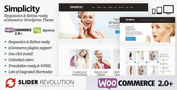 Simplicity - eCommerce WordPress Theme, Responsive - eCommerce WordPress