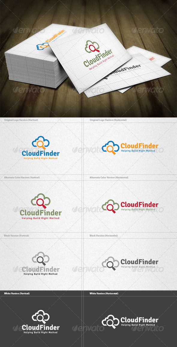Cloud Finder Logo - Symbols Logo Templates