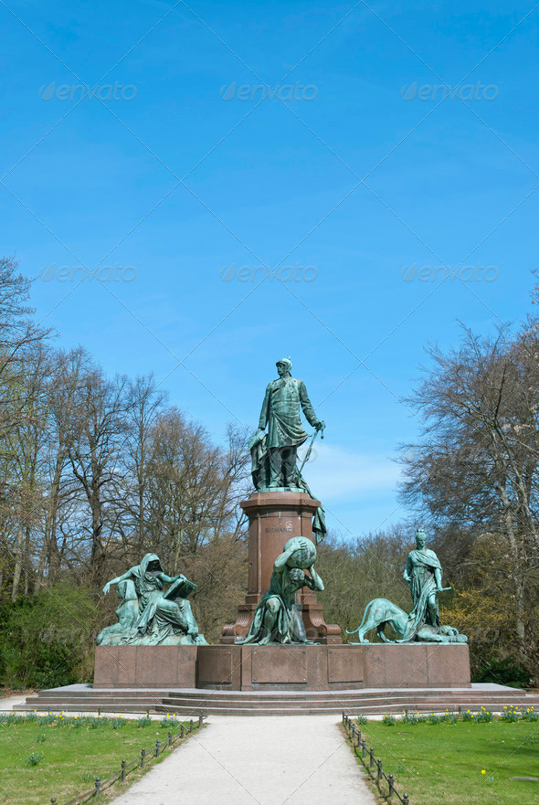 Bismarck Memorial in Berlin - Stock Photo - Images